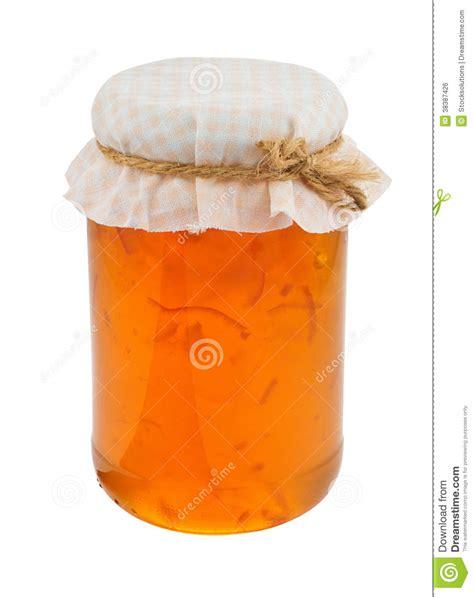 Traditional Farmhouse Plans Marmalade Jam Jar Isolated Royalty Free Stock Image