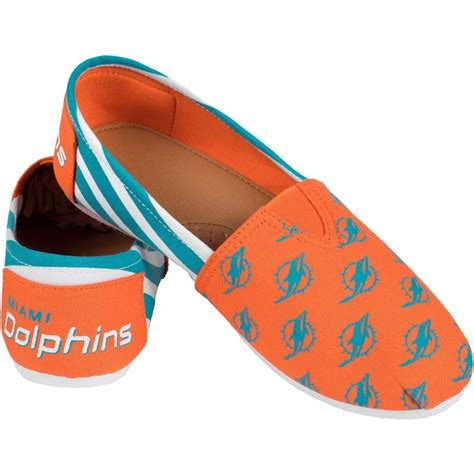 sports fan shoes miami dolphins nfl womens canvas stripe shoes sports fan