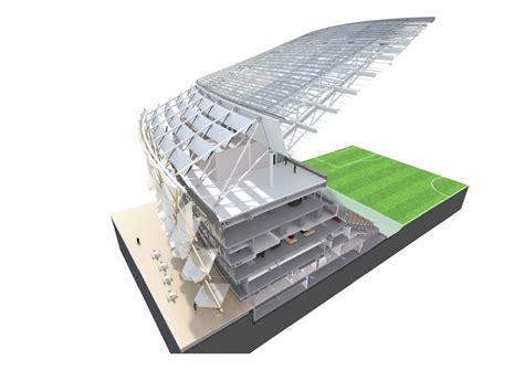 stadium sections hazza bin zayed stadium pattern design archdaily