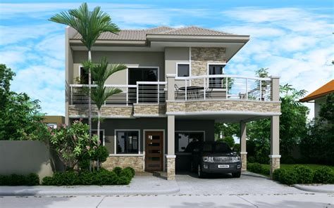 3d Exterior Home Design App evelyn two story house plan with firewall home design