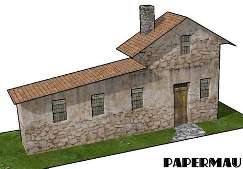 house diorama papermau european style house paper model for dioramas