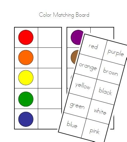 color matching items similar to color matching board colors and color