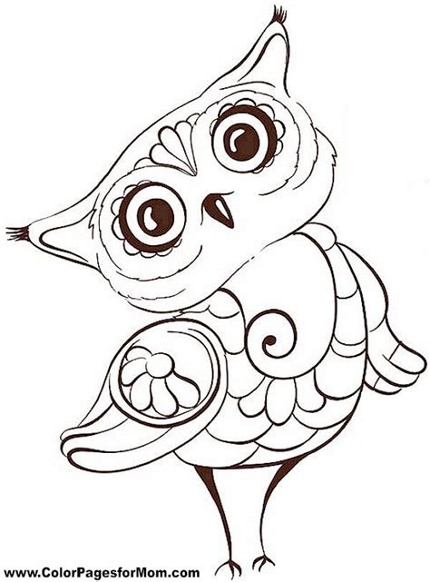 Pictures Of Owls To Color by Best 25 Owl Coloring Pages Ideas On Free