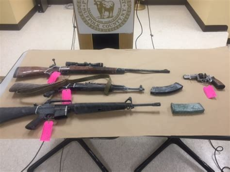 Suffolk County Warrant Search 20 Firearms Seized From Houses In Suffolk County The Huntingtonian
