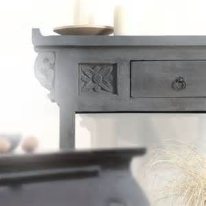 Gray Console Table Tikamoon Mango Wood Console Table Sideboard Aged Wood Grey Finish Handcarved Ebay