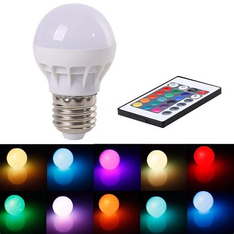 16 color changing led light bulb with remote