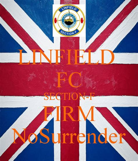 section f linfield linfield fc section f firm nosurrender poster banter