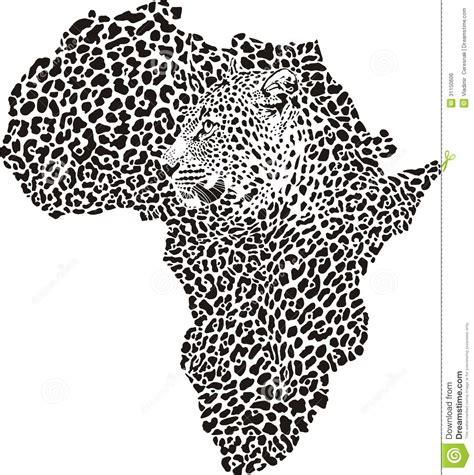 tattoo camo in south africa luipaardhuid en hoofd in silhouet afrika vector