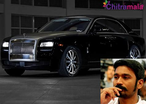 rolls rise car dhanush bought a costly rolls royce car