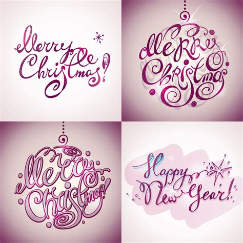 vectorial design font christmas and new year beautiful font design vector free