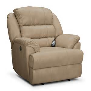 leather power recliner value city furniture