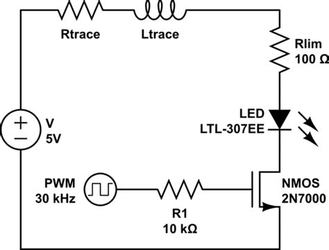 remove high frequency noise capacitor reducing led pwm noise which is the best option electrical engineering stack exchange