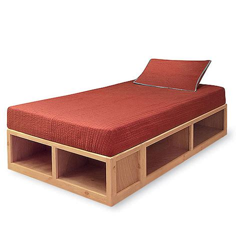 bed frame with storage twin badger storage twin bed walnut kids rooms walmart com