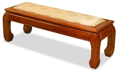 asian style bench rosewood ming style bench asian upholstered benches
