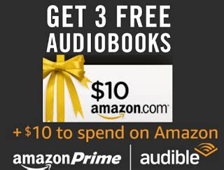Amazon Gift Card Audible - free 10 amazon gift card 3 free audiobooks