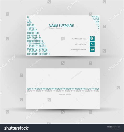back of business card template set modern vector business card template stock vector