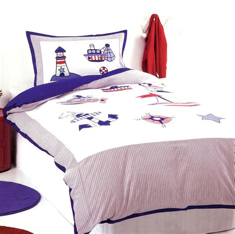 boys nautical bedding sail away quilt doona duvet cover set nautical bedding