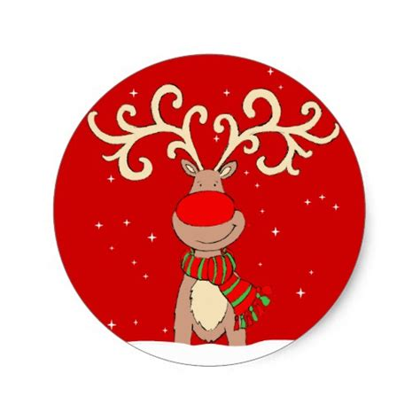 Stiker Natal Sticker 2 reindeer sticker zazzle