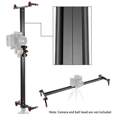 4 Bearings 60cm Slider Track Stabilizer neewer 23 6 inches 60 centimeters aluminum alloy track slider stabilizer rail with