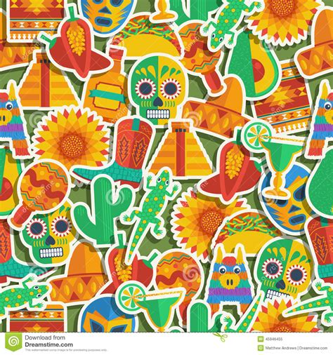 free mexican pattern background mexican pattern stock vector image 45946455