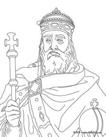 king color king charlemagne coloring pages hellokids