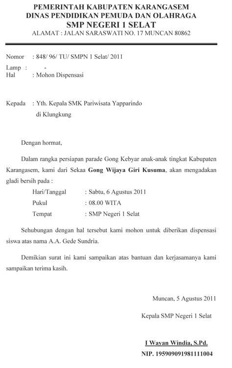 contoh surat formal kepada dosen 28 images cv dan