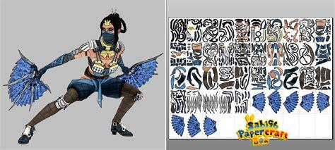 Mortal Kombat Papercraft - kitana mortal kombat x papercraft unfold by sabi996 on
