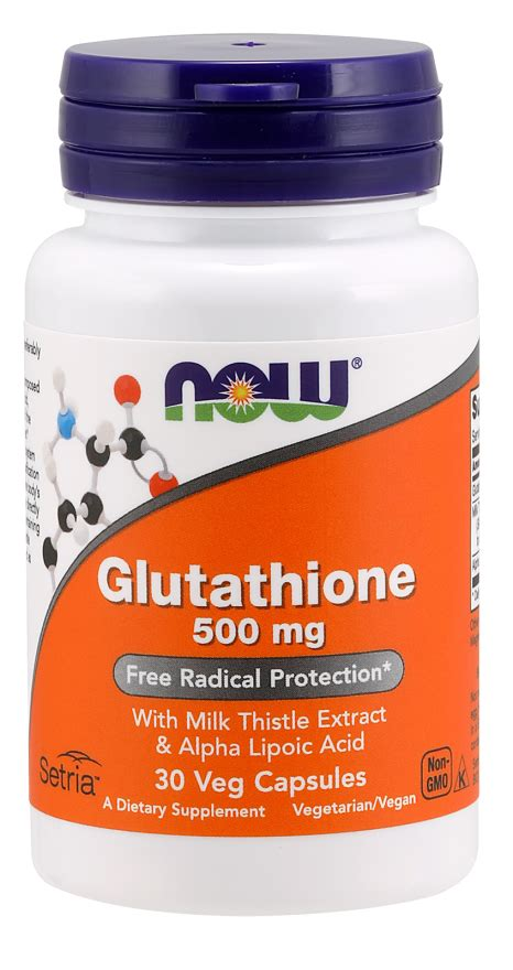 Gluta Caps 500 Mg Plus glutathione 500mg veg capsules now foods