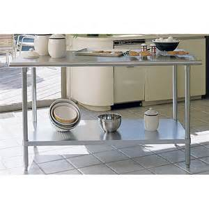metal kitchen island tables a line by advance stainless steel bull nose edge