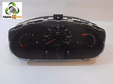 nissan micra k11 1998 to 2002 speedometer clocks instrument cluster 125201 miles electronic systems