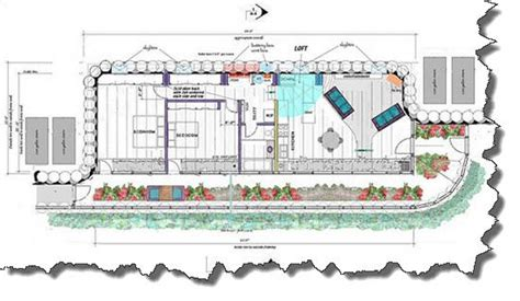 earthship home plans quot corner cottage quot earthship floor plan 2 br 1 ba earthships pinterest earthship floor
