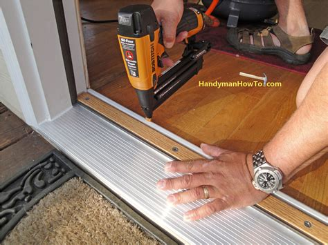 How To Install Exterior Door Threshold Homeofficedecoration Replace Exterior Door Threshold