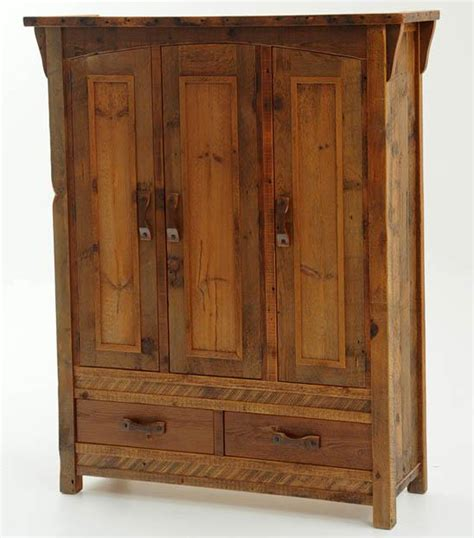 armoire wood cabin furniture rustic armoires salvaged distressed woods