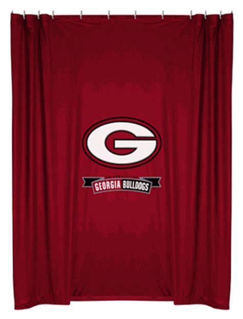 georgia bulldogs shower curtain georgia bulldogs shower curtain