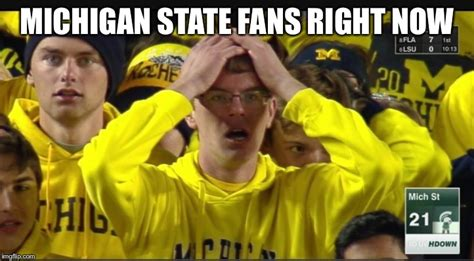 Michigan Fan Meme - stunned michigan fan imgflip