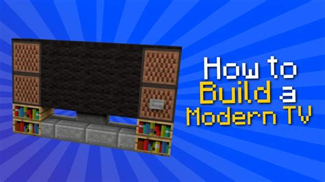 minecraft how to build a modern tv tutorial