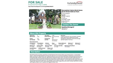 a great house for sale by owner flyer forsalebyowner com