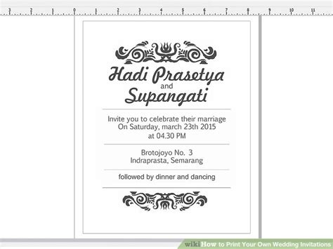 How To Print Wedding Invitations