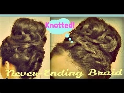 french braid donut bun video easy knotted never ending french braid sock bun tutorial