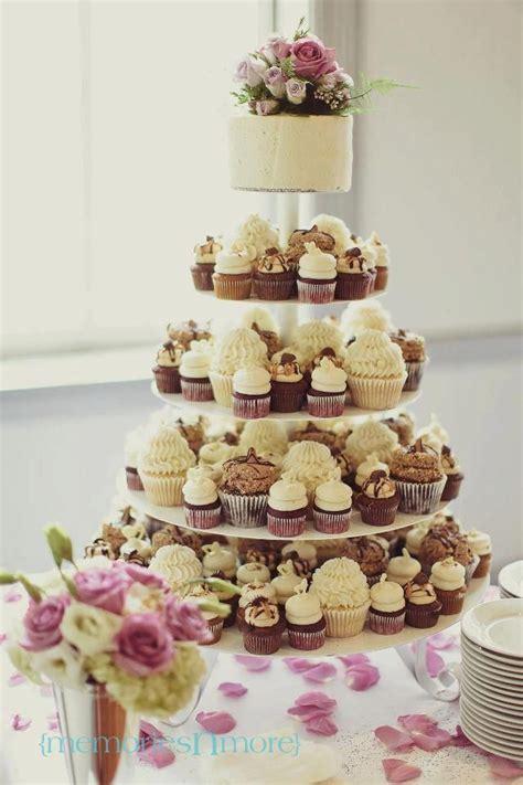 Gigi's Cupcakes wedding reception cupcake stands   mix of