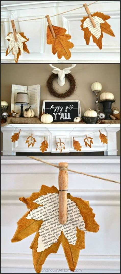 diy fall mantel decor ideas  inspire landeelucom