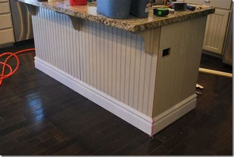 baseboard molding around kitchen island for the home