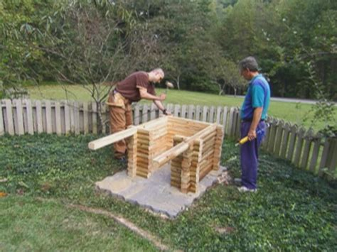 how to build a wooden dog house step by step how to build a log cabin doghouse how tos diy