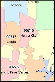 los angeles california ca zip code map downloads