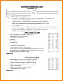 employee supervision template staff supervision template cv exles and