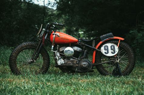 Harley Davidson Flat Tracker by 1946 Harley Davidson Wr Flat Tracker Throttle Roll