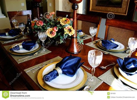 dining table chargers dressed dining room table stock photos image 301633