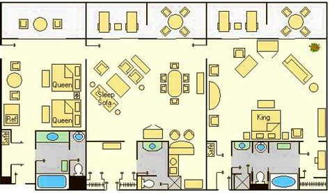 Disney Contemporary Resort Hospitality Suite Floor Plan - accommodations and theming at disney s contemporary resort