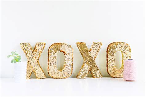 Letter Xoxo Diy Sequin Xoxo Letters