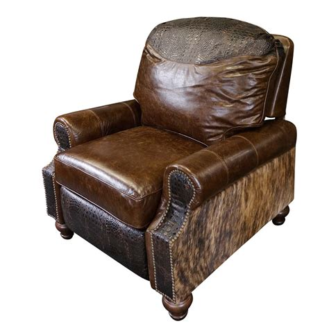 western recliners western royalty leather recliner western accent chairs